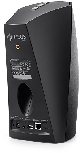 Heos 3 Audio-Streaming Lautsprecher Denon Multiroom (Spotify Connect, Deezer, Tidal, Soundcloud, NAS, WLAN, USB, Appsteuerung, Aux-In) schwarz - 5