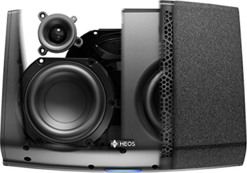 Heos 5 Audio-Streaming Lautsprecher Denon Multiroom (Spotify Connect, Deezer, Tidal, Soundcloud, NAS, WLAN, USB, Appsteuerung, Aux-In) schwarz - 7
