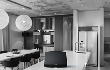 Heos 5 Audio-Streaming Lautsprecher Denon Multiroom (Spotify Connect, Deezer, Tidal, Soundcloud, NAS, WLAN, USB, Appsteuerung, Aux-In) schwarz - 8